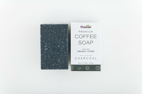 Fivesso Activated Charcoal Coffee Soap Bar